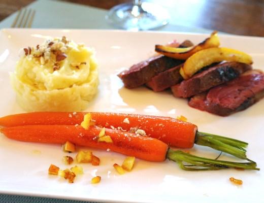 magret carottes glacées panais