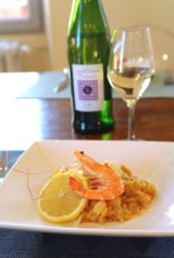 risotto crevette citron et safran