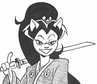 Tomoe Ame. Image extraite de Usagi Yojimbo