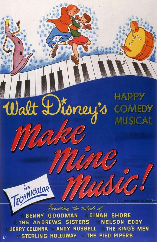 1946 Make Mine Music Poster 519x800 Les affiches des 53 films Disney de 1937 à 2013 design cinema 2 art