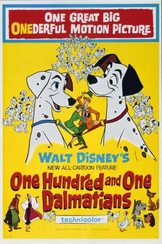 1961 One Hundred and One Dalmatians Poster 532x800 Les affiches des 53 films Disney de 1937 à 2013 design cinema 2 art