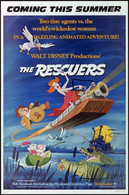 1977 The Rescuers Poster 528x800 Les affiches des 53 films Disney de 1937 à 2013 design cinema 2 art
