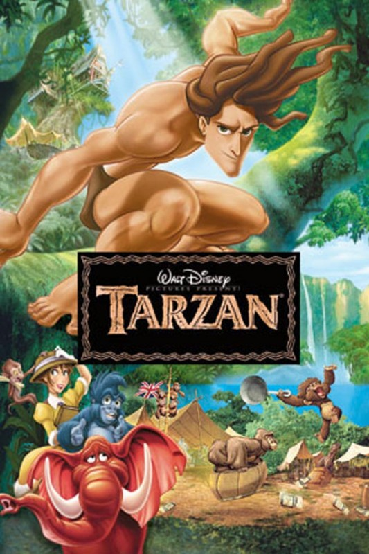1999 Tarzan Poster 533x800 Les affiches des 53 films Disney de 1937 à 2013 design cinema 2 art