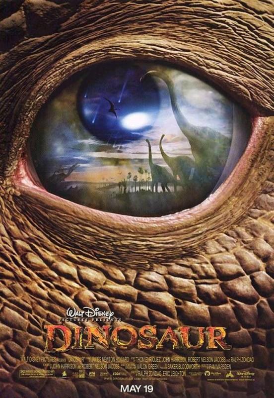 2000 Dinosaur Poster 552x800 Les affiches des 53  films Disney de 1937 à 2013  design cinema 2 art