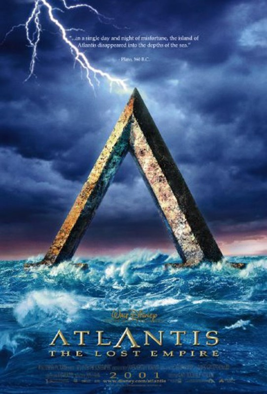2001 Atlantis The Lost Empire Poster 542x800 Les affiches des 53 films Disney de 1937 à 2013 design cinema 2 art