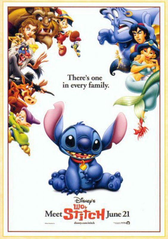 2002 Lilo and Stitch Poster 564x800 Les affiches des 53 films Disney de 1937 à 2013 design cinema 2 art