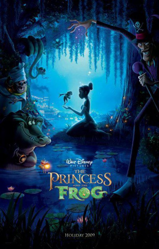 2009 The Princess and the Frog Poster 512x800 Les affiches des 53 films Disney de 1937 à 2013 design cinema 2 art
