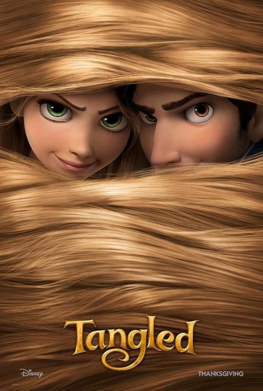 2010 Tangled Poster 539x800 Les affiches des 53 films Disney de 1937 à 2013 design cinema 2 art