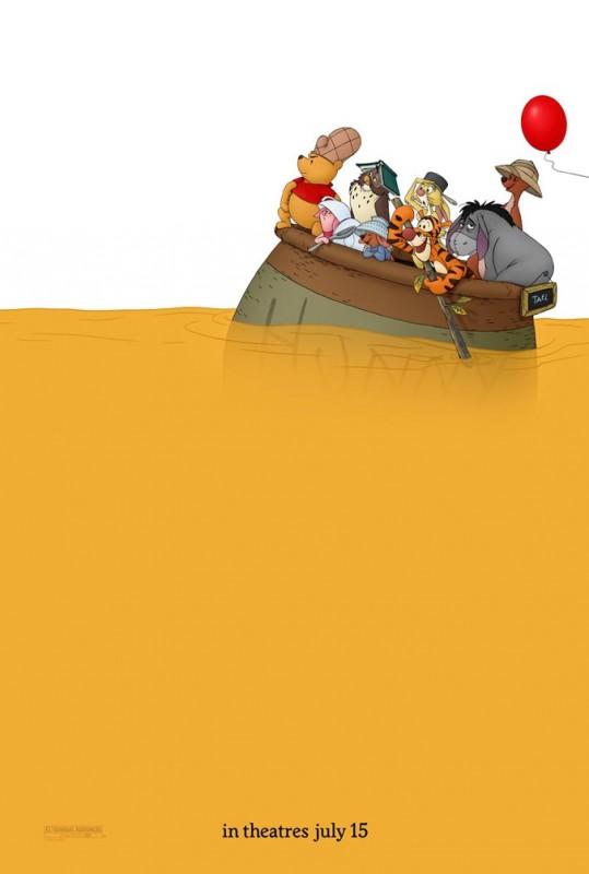 2011 Winnie the Pooh Poster 539x800 Les affiches des 53 films Disney de 1937 à 2013 design cinema 2 art