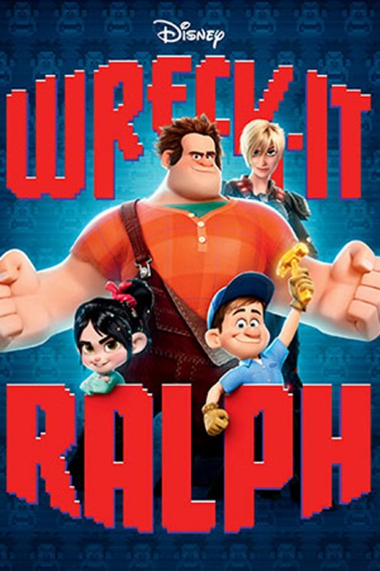 2012 Wreck It Ralph Poster 533x800 Les affiches des 53 films Disney de 1937 à 2013 design cinema 2 art