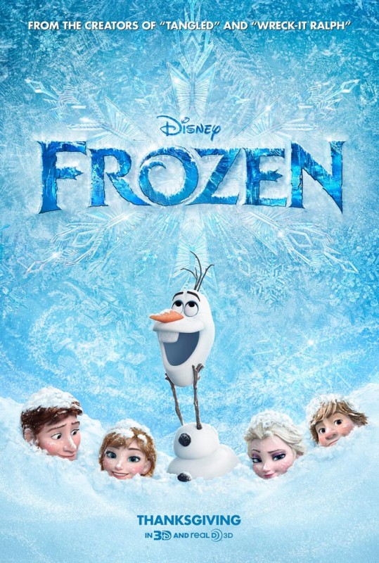 2013 Frozen Poster 539x800 Les affiches des 53 films Disney de 1937 à 2013 design cinema 2 art