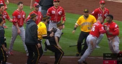 Grandes Ligas suspende varios jugadores tras trifulcas durante partido entre Rojos y Piratas