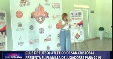 Club de fútbol atlético de San Cristóbal presenta su planilla de jugadores para 2019