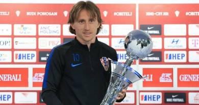 Prensa deportiva premia a Luka Modric como mejor deportista de 2018