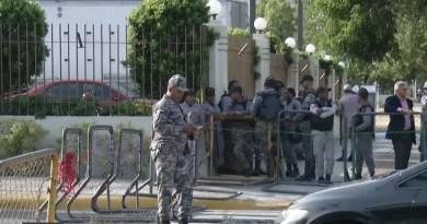 Vuelve otra vez el cerco policiaco-militar sobre los alrededores del Congreso Nacional