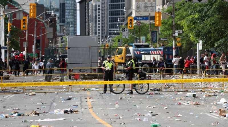 Cuatro heridos de bala en festejos por título de Raptors