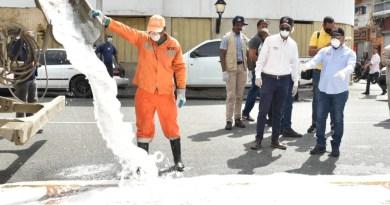 MOPC  y CAASD inician con constructoras y hormigoneras   jornada de limpieza en espacios públicos del DN