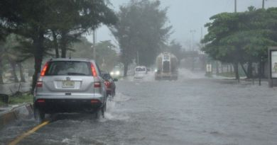 Continuarán las lluvias sobre territorio dominicano este jueves