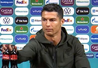 El gesto de Cristiano Ronaldo que provocó una caída en las acciones de Coca Cola (VIDEO)