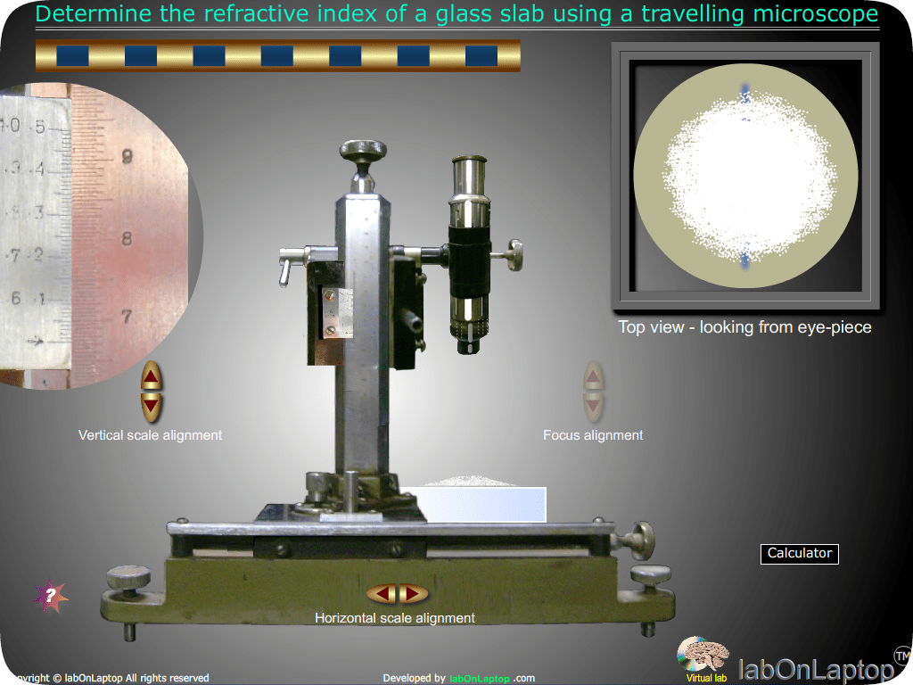 Refractive Index Of Glass Slab Using Travelling Microscope