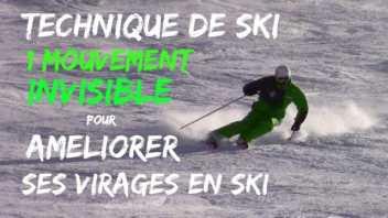 Technique de ski - 1 mouvement INVISIBLE pour AMELIORER ses virgages en SKI