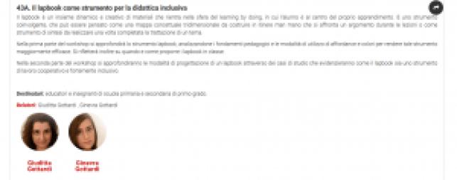 workshop lapbook Convegno Qualità e inclusione scolastica e sociale Rimini 2017
