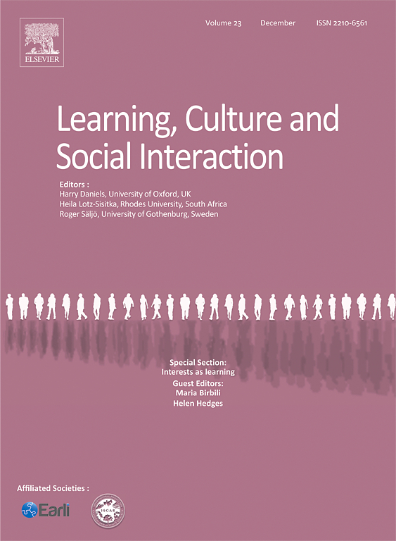 Learning, Culture & Social Interaction