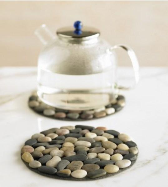 posavasos con piedras