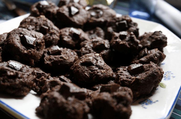 Galletas de chocolate fondant