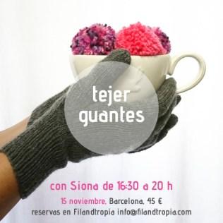 cartel taller tejer guantes