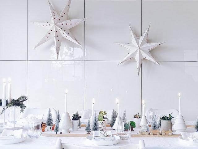 decoracion blanca navidad