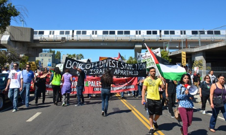 Marchers attempt to block boat at Port of Oakland to protest Gaza war