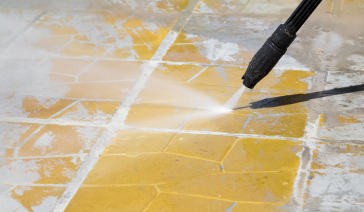 a simple instruction guide for how to clean patio pavers labor panes commercial and residential window cleaning