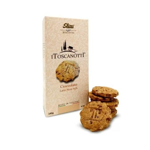 Biscuiti Cioccolato Latte Nero 45% I Toscanotti Slitti