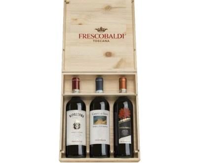 Selectie de Vinuri Frescobaldi in Cutie de Lemn