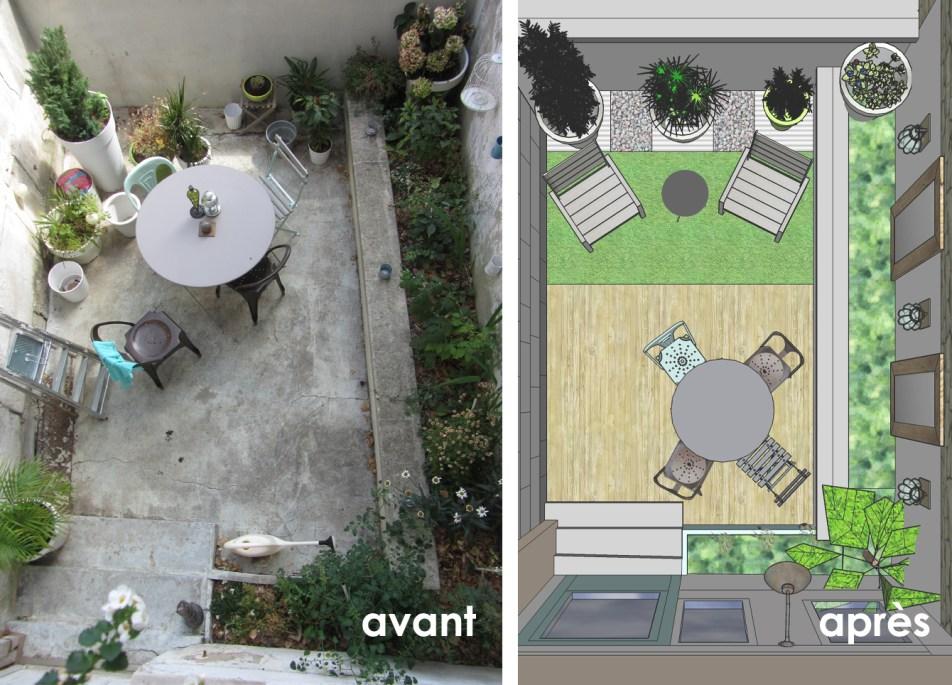 Terrasse PLAN avant après