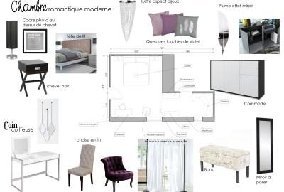 Chambre ambiance romantique moderne