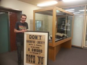 Liam Byrne at the University of Melbourne Archives