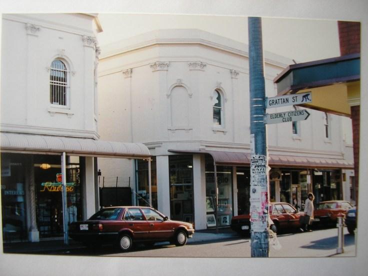 120 Greville Street Prahran (centre of photo - from the Grattan Street corner 1992)