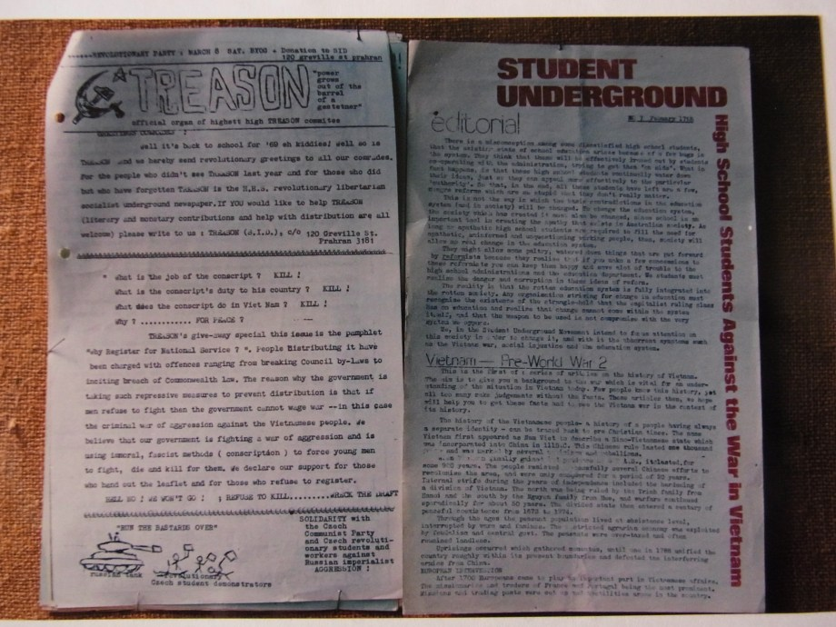 Treason (Highett High, Melbourne), March 1969 Student Underground (High School Students Against the War in Vietnam), Sydney, February 1969