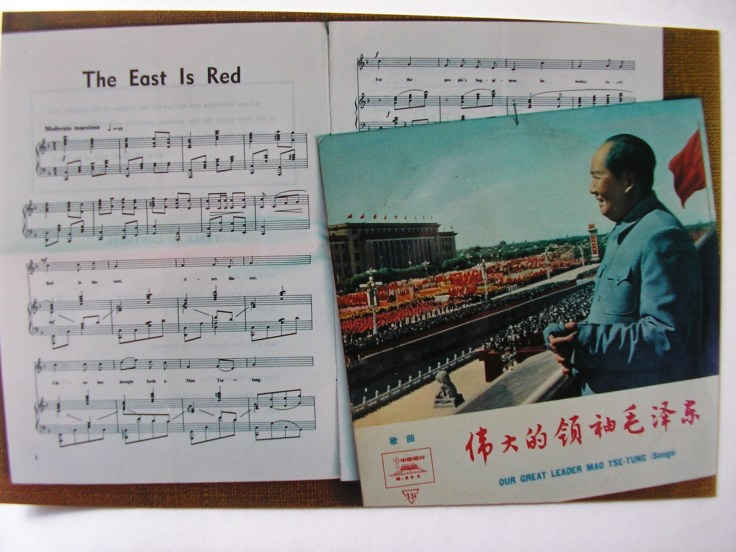 'Red is the East - Rises the Sun - China has brought forth a Mao Tse-Tung'