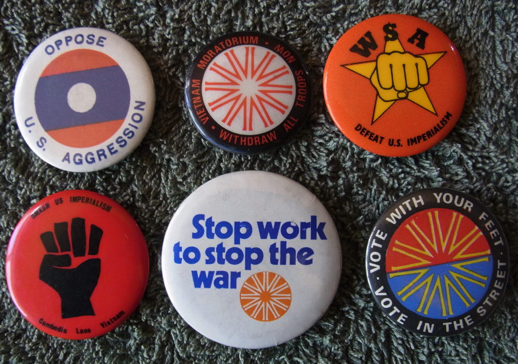 Moratorium Badges. Ken Mansell.