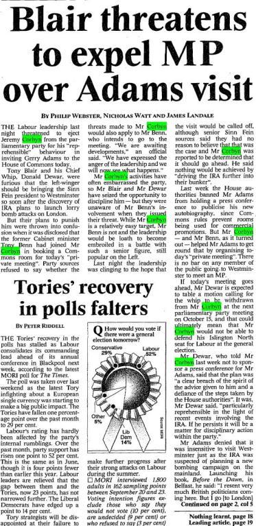 corbyn IRA the times 1