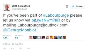 Matt Beresford Purge Form