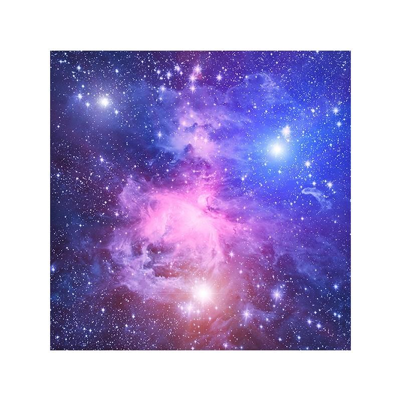 Plafond Tendu Imprim Personnalis Paysage Univers Toile Dans Le Ciel Bleu Violet Papier