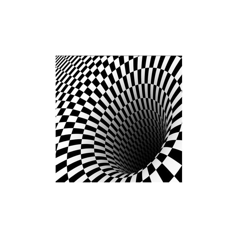 revetement de sol 3d personnalise vinyle auto adhesif surface en pvc motif abstrait en noir et blanc le tourbillon atelier wybo