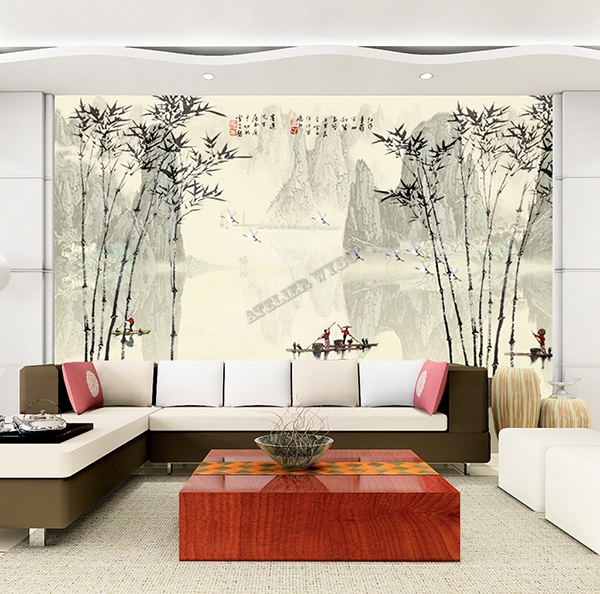 Chinese Wallpaper Bamboo Papier Peint Chinois