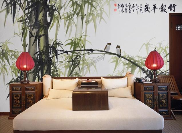 Peinture Lencre De Chine Papier Peint Asiatique Sur