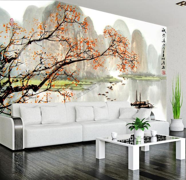 Tapisserie Numrique Sur Mesure Style Chinois Paysage
