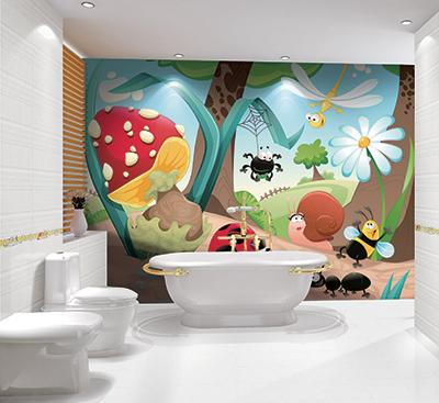 Plaque Pvc Decoratif Etanche Dessin Ludique Salle De Bain Enfant Atelier Wybo